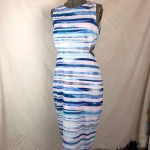 Yumi Kim watercolor dress striped pastel cut out